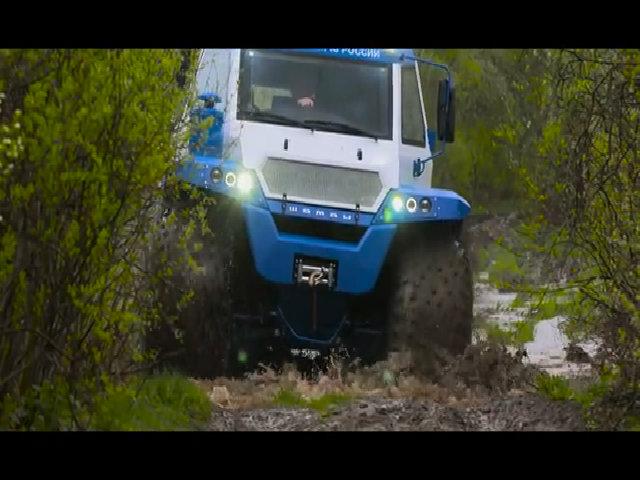 Avtoros Shaman - xe ATV 8 bánh vượt địa hình đến từ Nga