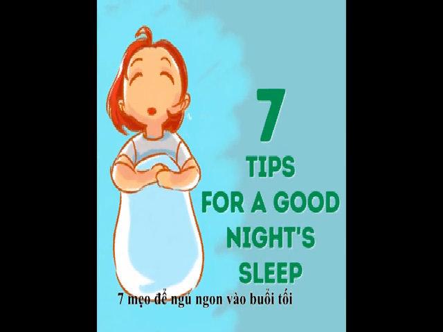 7 mẹo để ngủ ngon