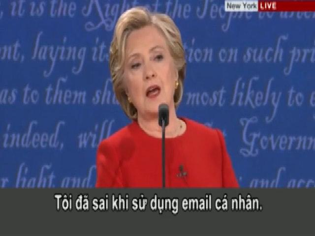 Clinton thừa nhận sai lầm khi dùng email cá nhân