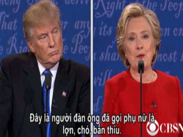 Clinton: Trump gọi phụ nữ là lợn, chó và bẩn thỉu