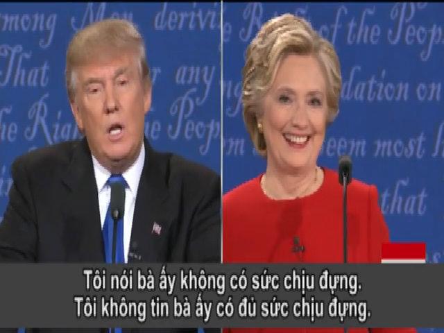 Trump nói Hillary Clinton không đủ sức chịu đựng để làm tổng thống