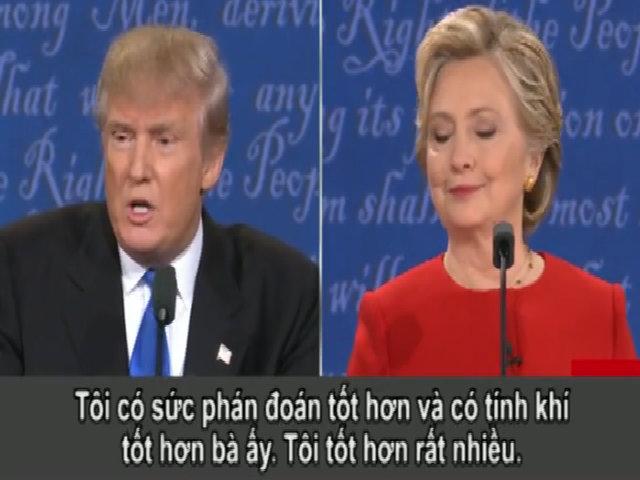 Trump: 'Tôi có tính khí tốt hơn Clinton'