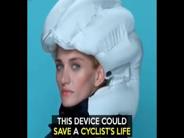 Túi khí bảo vệ người đi xe đạp khi gặp tai nạn