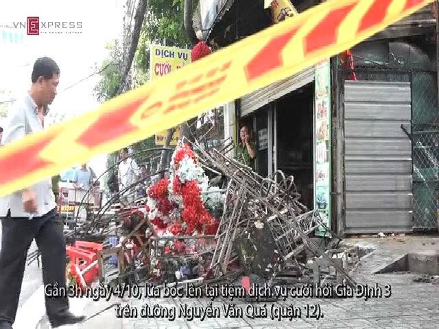 Cháy tiệm đồ cưới, cả gia đình 3 người tử vong