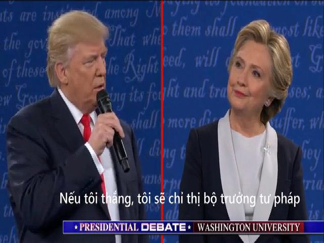 Cựu bộ trưởng tư pháp Mỹ phản đối Trump nói điều tra Clinton