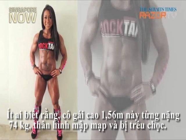 Quý cô thể hình khoe body 6 múi chỉ có 9% mỡ cơ thể