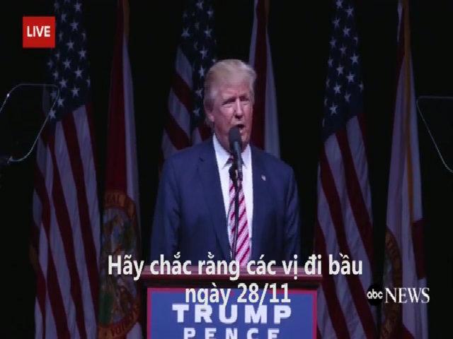 Donald Trump nói nhầm ngày bầu cử