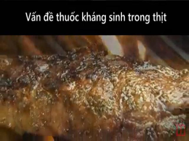 Nguy cơ từ thuốc kháng sinh trong thịt lợn gà