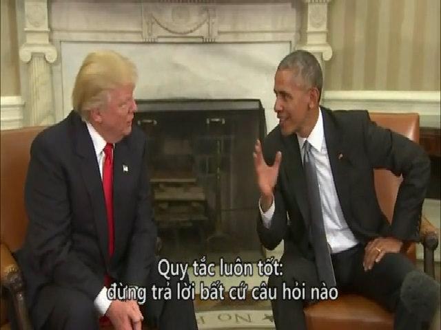 Obama - Trump nói gì trong họp báo tại Nhà Trắng?
