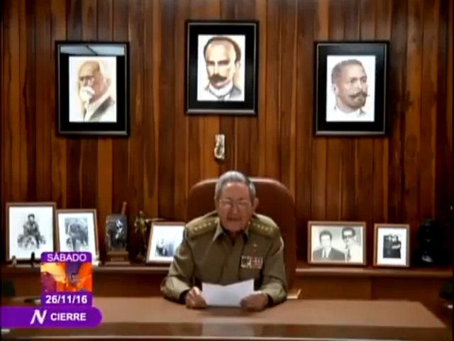 Chủ tịch Raul Castro thông báo Fidel Castro qua đời