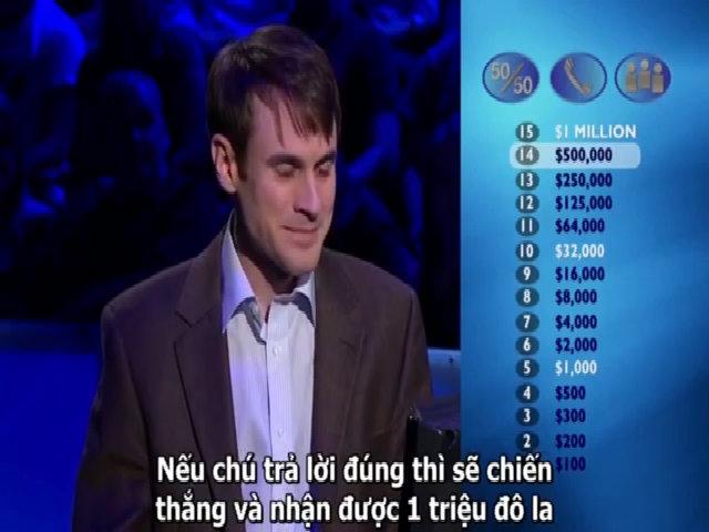 Mất triệu đô vì bị chơi khăm trong chương trình 'Ai là triệu phú'