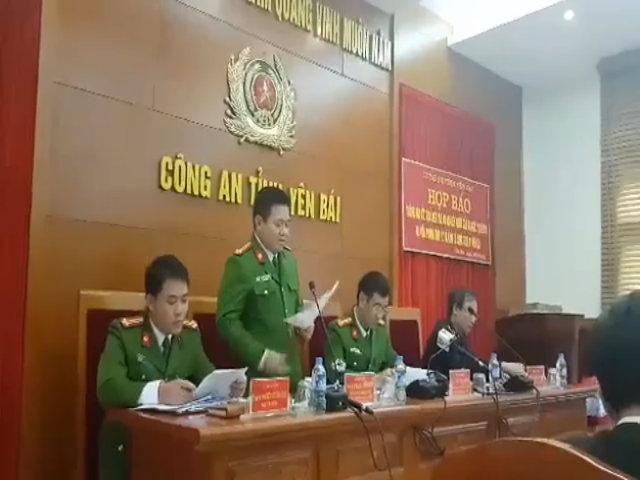 Họp báo công bố kết quả điều tra vụ bắn Bí thư, Chủ tịch HĐND tỉnh Yên Bái