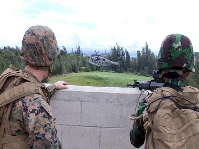 Lính Indonesia tập trận cùng quân đội Mỹ và Australia