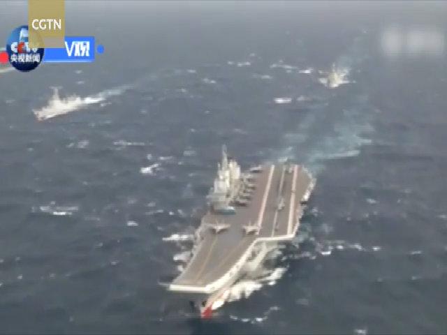 Nhóm tàu sân bay Liêu Ninh tập trận