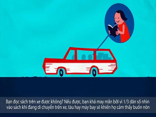 Tại sao đi tàu, xe lại bị hiện tượng say xe ói mửa?