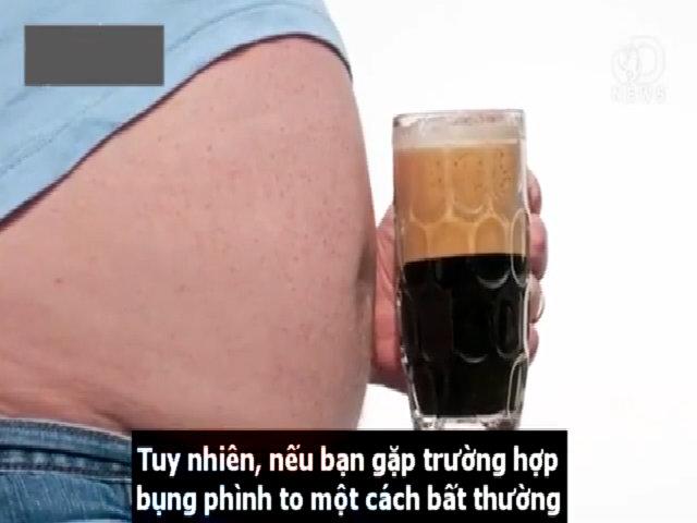 Uống bia có làm bụng nam giới phát phì