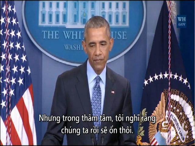 Obama nói trong cuộc họp báo cuối cùng: 'Chúng ta rồi sẽ ổn thôi'