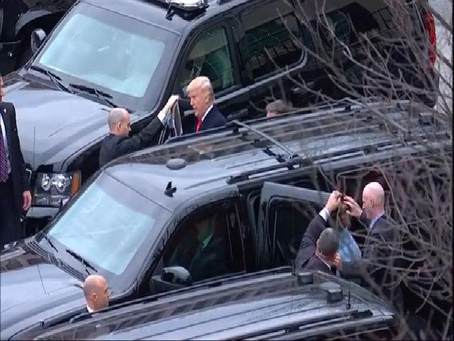 Trump sử dụng lại xe limousine của Obama