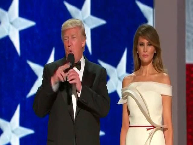 Trump và vợ khiêu vũ trong dạ tiệc