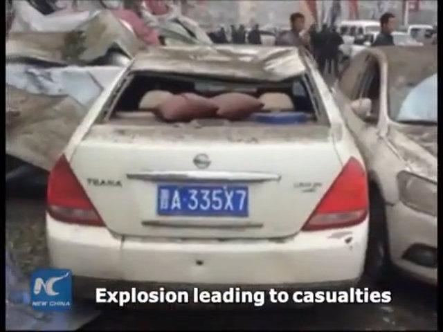 Vụ nổ phá hàng chục tòa nhà tại Trung Quốc