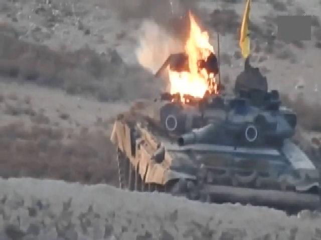 Xe tăng T-90 đầu tiên bị bắn cháy tại chiến trường Syria