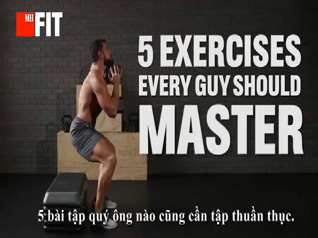 5 động tác mà quý ông nào cũng nên tập thuần thục