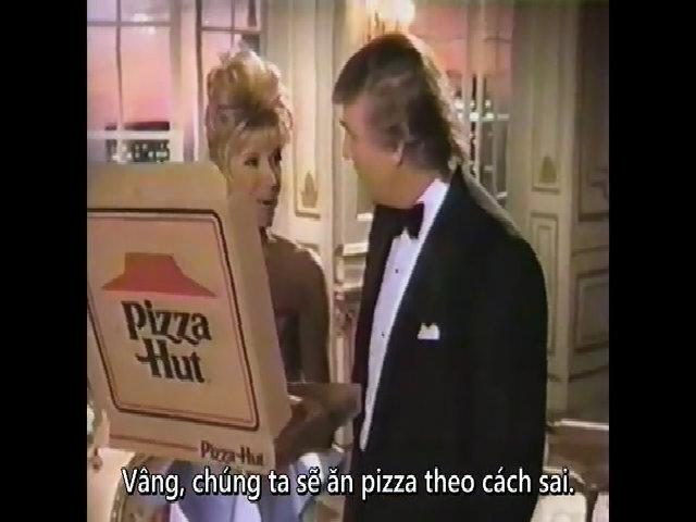 Donald Trump quảng cáo pizza