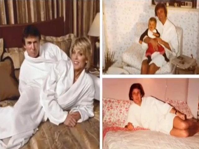 Donanld Trump mặc áo choàng tắm