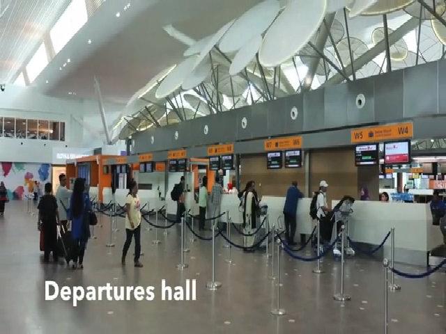 Bên trong phòng chờ an ninh ở sân bay Malaysia
