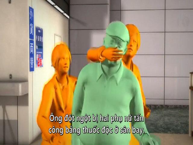 Video mô phỏng vụ sát hại Kim Jong-nam
