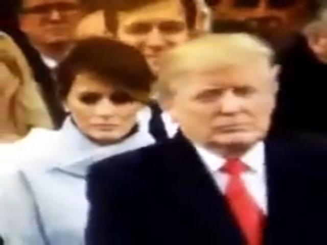 Melania tỏ vẻ cau có khi Donald Trump tuyên thệ nhậm chức