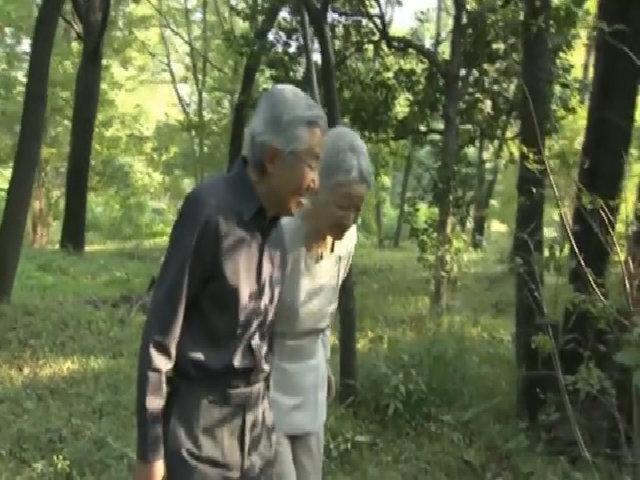 Thú tản bộ sáng sớm của Nhà vua và Hoàng hậu Nhật Bản