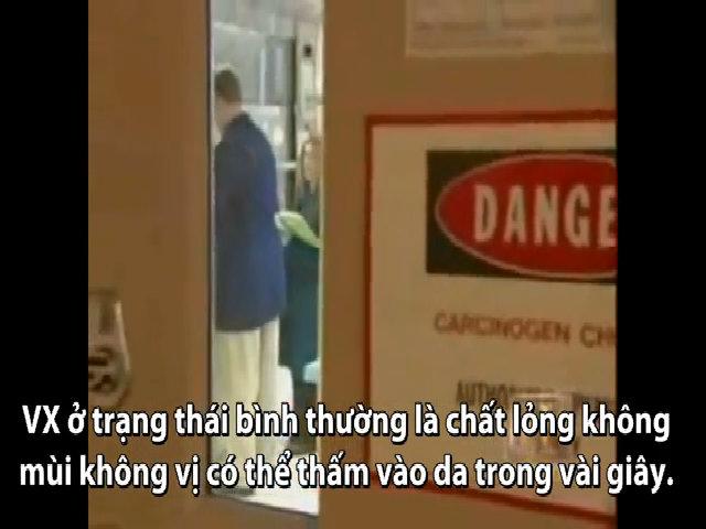 Sự nguy hiểm của chất độc VX