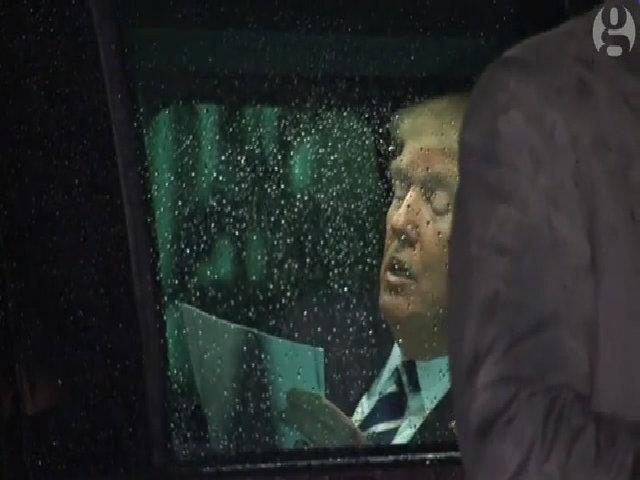 Trump luyện phát biểu trước quốc hội trên ôtô