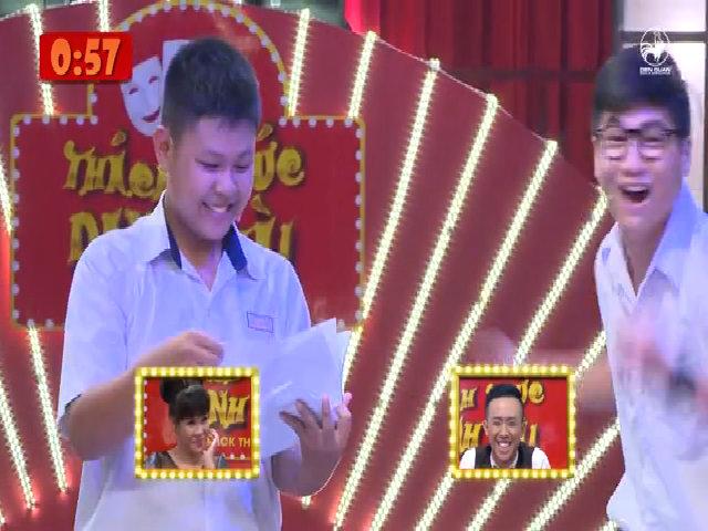 Cặp đôi học trò nhận được nụ cười của Trấn Thành - Việt Hương ở giây cuối cùng