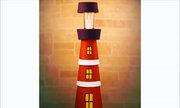 Chiếc đèn hình ngọn hải đăng làm từ bình cây