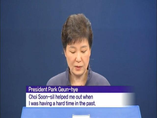 Park Geun-hye xin lỗi về bê bối trên truyền hình