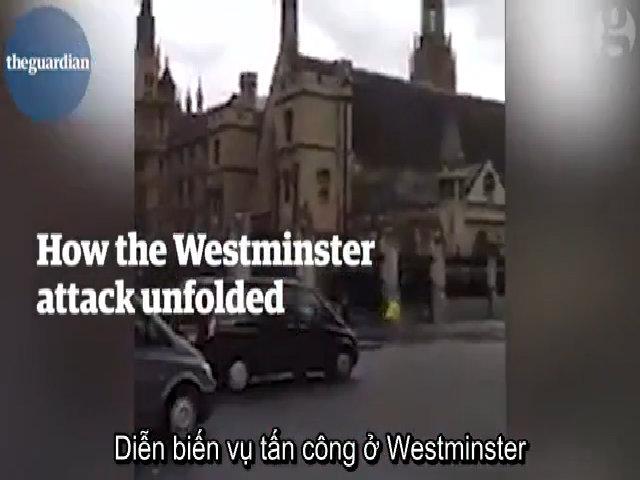Diễn biến vụ tấn công ngoài tòa nhà quốc hội Anh