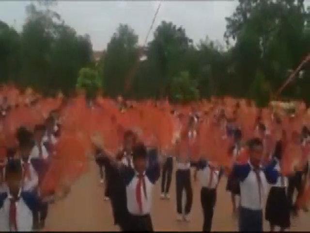 Màn thể dục nhịp điệu gây sốt cộng đồng của học trò Thái Bình