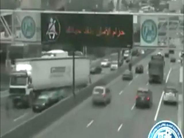Xe tải mất phanh chạy lùi trên cao tốc