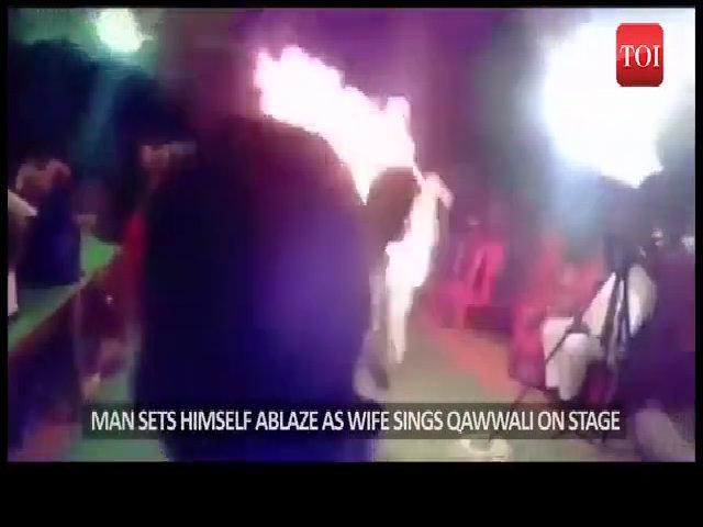 Chồng tự thiêu vì vợ không chịu ngừng hát