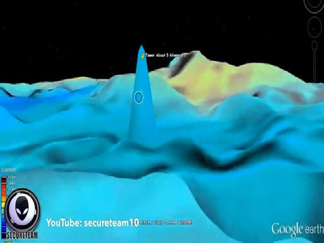 Vật thể nghi cụm tháp cao 5 km trên Mặt Trăng