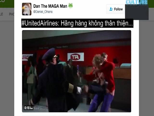 Người dùng mạng xã hội chế ảnh phản đối United Airlines