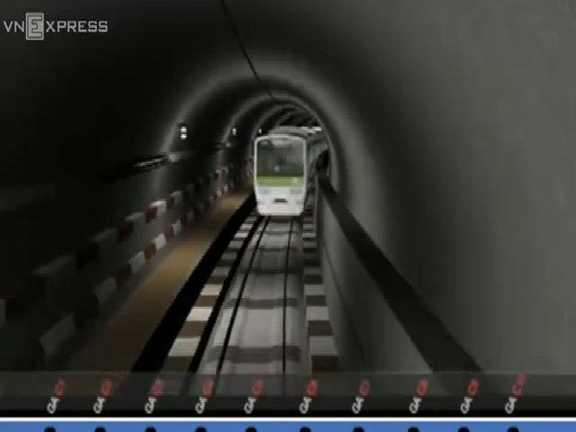 Đồ họa thiết kế tuyến Metro 35.000 tỷ ở thủ đô