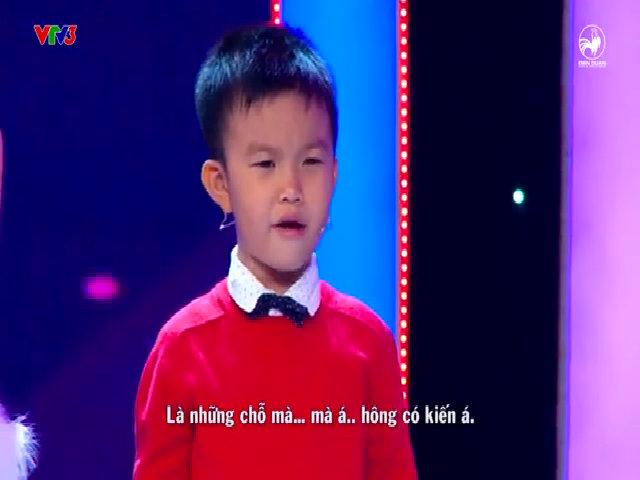 Thánh nói 4 tuổi khiến Trấn Thành, Ngô Kiến Huy điêu đứng