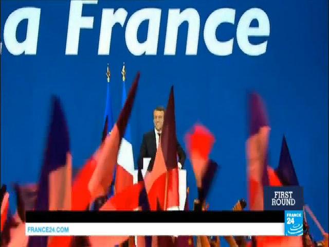 Ông Macron phát biểu trước người ủng hộ sau chiến thắng