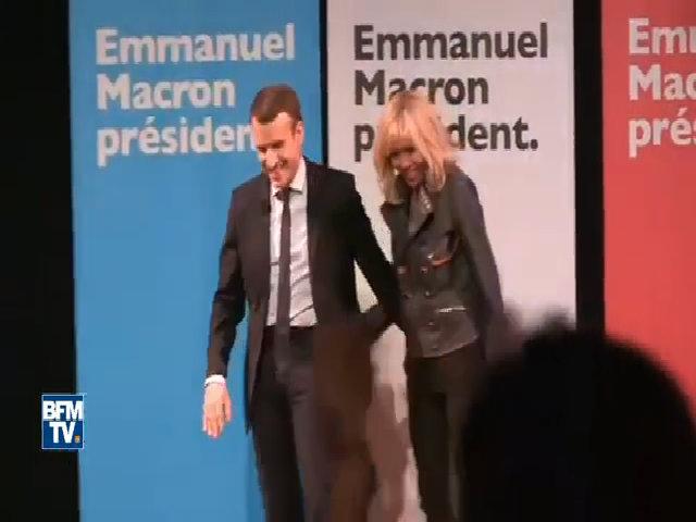 Ứng viên tổng thống Pháp ca ngợi vợ trên sân khấu
