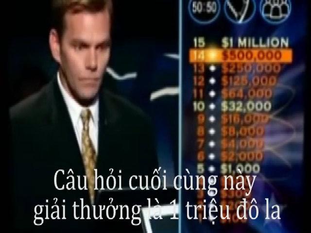 Mất triệu đô la vì câu hỏi gây ức chế của Ai là triệu phú