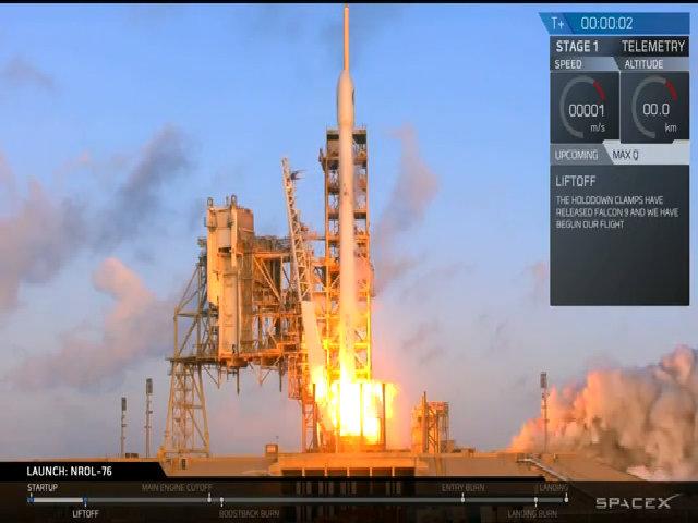 Tên lửa tái chế lần đầu đưa vệ tinh gián điệp lên quỹ đạo