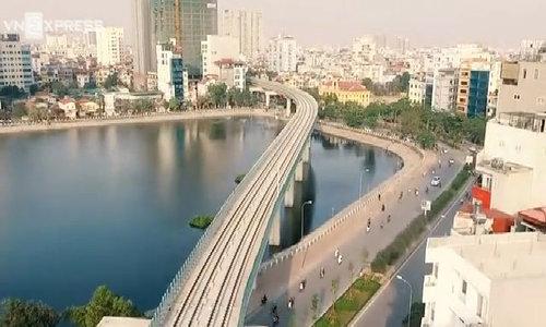 Trải nghiệm các nhà ga tuyến Cát Linh - Hà Đông từ trên cao